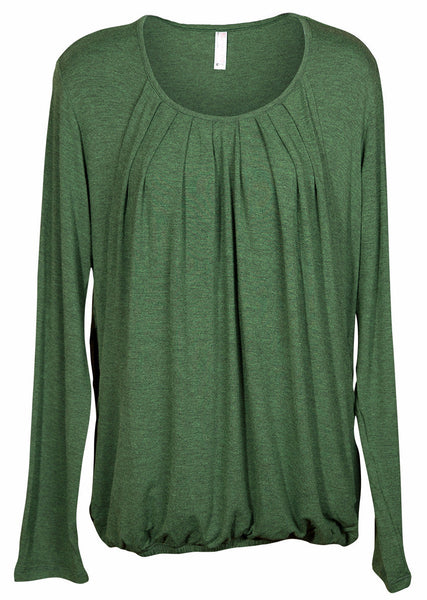 Nurture-Elle Pleated Nursing Top - Long Sleeve - Nurture-Elle Nursing Apparel  - 2