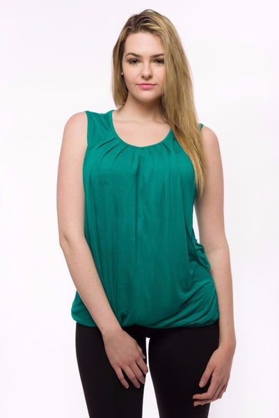 Nurture-Elle Pleated Breastfeeding Top – sleeveless - Nurture-Elle Nursing Apparel  - 1