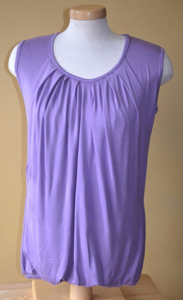 Nurture-Elle Pleated Breastfeeding Top – sleeveless - Nurture-Elle Nursing Apparel  - 4