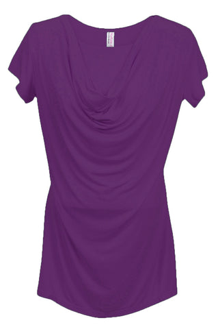Nurture-Elle Cowl Neck Nursing Top - Short Sleeve - Nurture-Elle Nursing Apparel  - 3