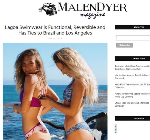 Malendyer - Lagoa Swimwear Functional and Cute Reversible Bikinis with Pockets