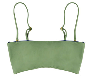 Bella Reversible Bandeau Bikini Top (Moss/Navy) - Lagoa Swimwear
