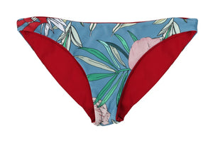 Tiffany Reversible Bikini Bottom (Scarlet/Floral) - Lagoa Swimwear