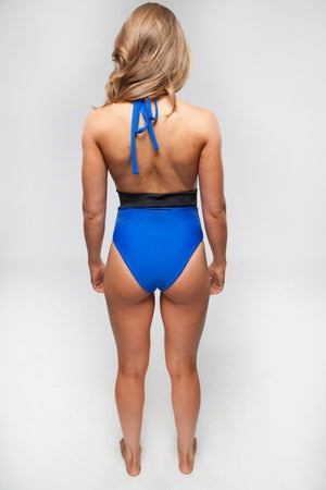Natalie One Piece (Royal/Black) - Lagoa Swimwear