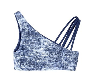 Nikki Reversible Bikini Crop Top (Denim/Navy) - Lagoa Swimwear