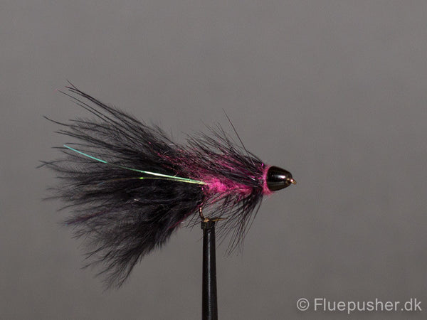 Pink/sort Woolly bugger conehead