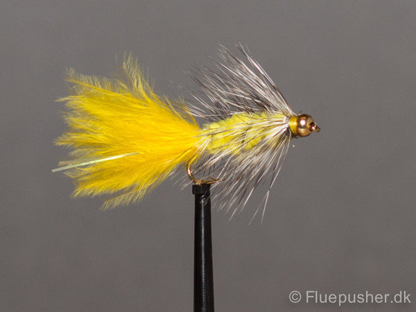 Gul grizzly woolly bugger