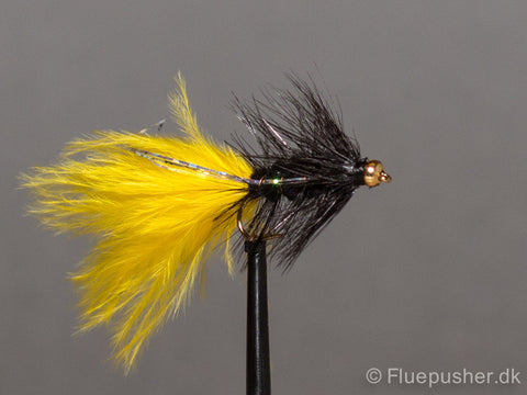 Black silver flash tail woolly bugger