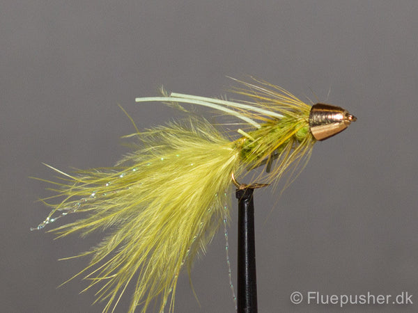White legged olive conehead woolly bugger