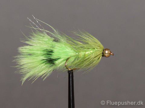 Chartreuse grizzly woolly bugger
