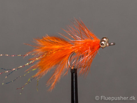 Orange woolly bugger