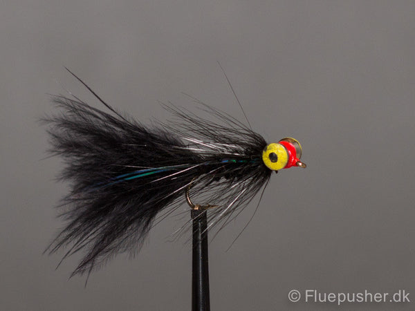 Deep black eyed woolly bugger