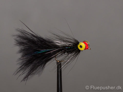 Deep black eyed woolly bugger vinter