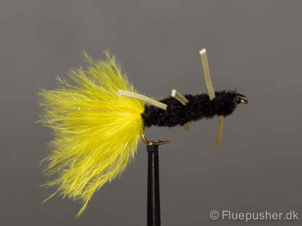 Rubber legged black woolly bugger