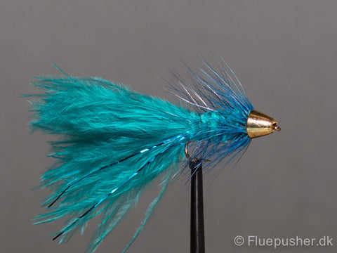 Blue conehead woolly bugger