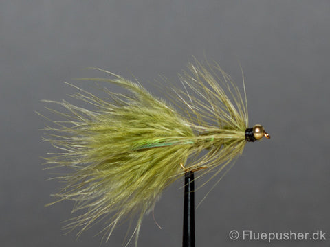 Flash body olive woolly bugger