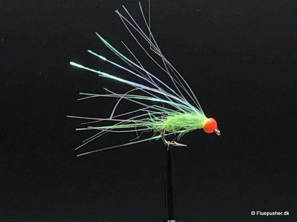 Chartreuse ice flash nymph
