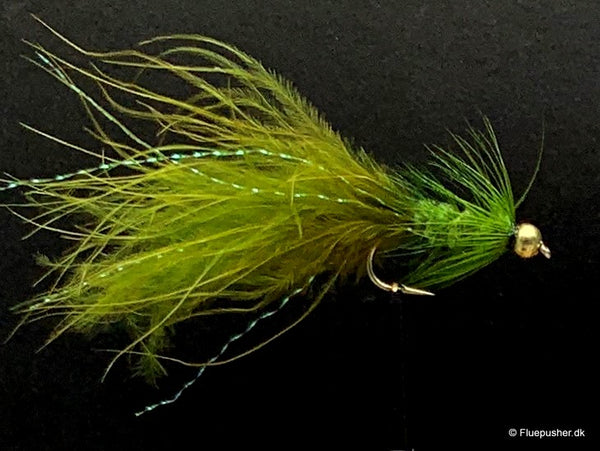 Olive woolly bugger wide gap deep. vinter
