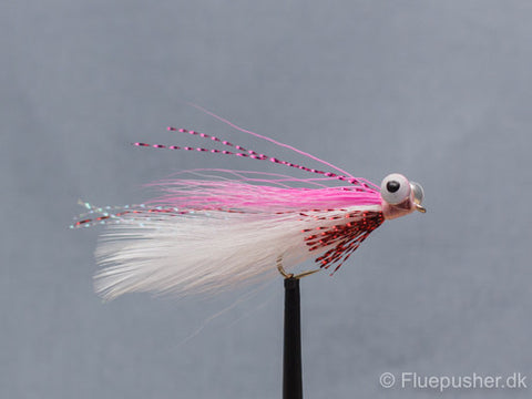 Pink/white clouser minnow