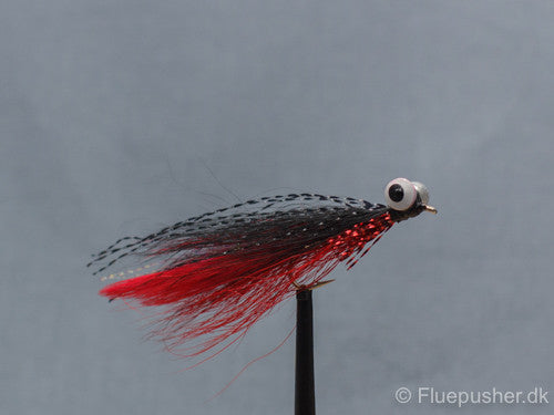 Red/black clouser minnow