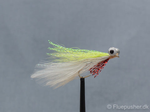 Chartreuse/white clouser minnows