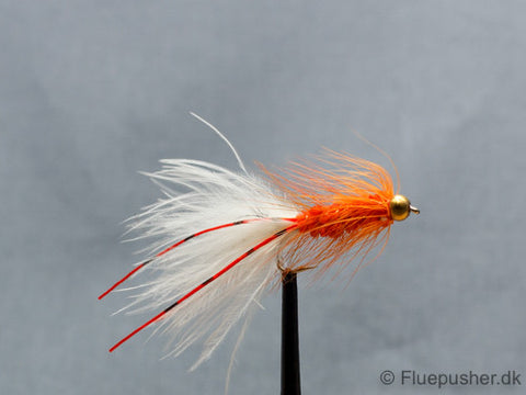 Orange flexilegged woolly bugger