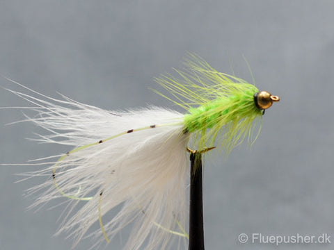 Chartreuse flexilegged woolly bugger
