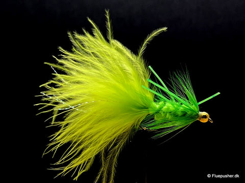 Chartreusse rubberlegged woolly bugger
