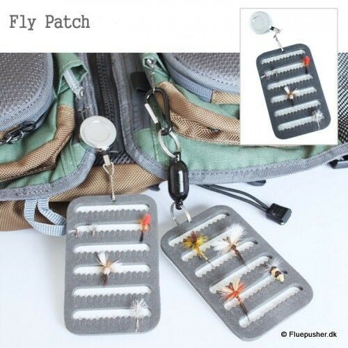 Fly patch pin on