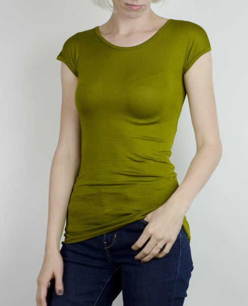 Cap Sleeve- Golden Olive