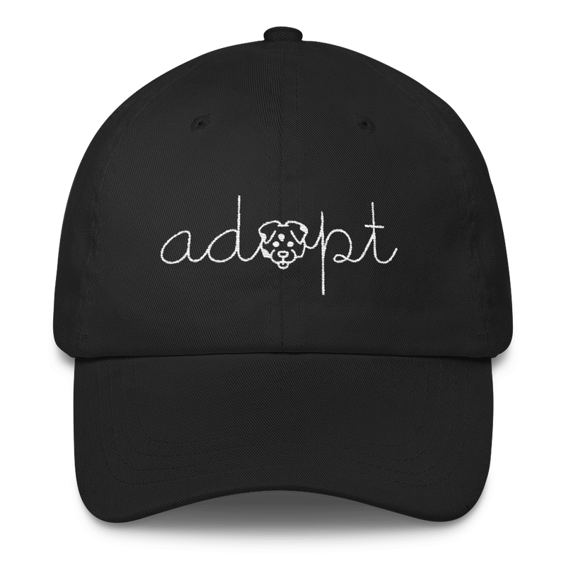Adopt - Rescue Dog Adoption Classic Dad Cap Hat - Cruel World Apparel Shirts Clothing