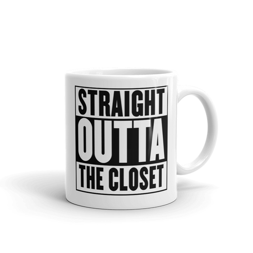Straight Outta The Closet - LGBTQ Pride Coffee Mug