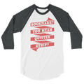 Bookmark You Mean Quitter Strip? 3/4 sleeve raglan shirt reading
