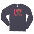 I Love Camping - Cute Camp Long sleeve t-shirt (unisex)