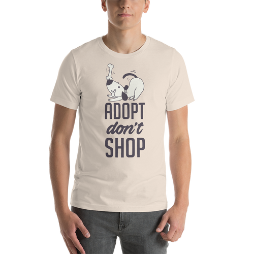 Adopt Don't Shop - Rescue Dog Short-Sleeve Unisex T-Shirt Gift - Cruel World Apparel Shirts Clothing