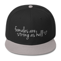 Females are Strong as Hell - Wool Blend Snapback Hat