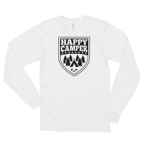 Happy Camper - Camping Long sleeve t-shirt (unisex)