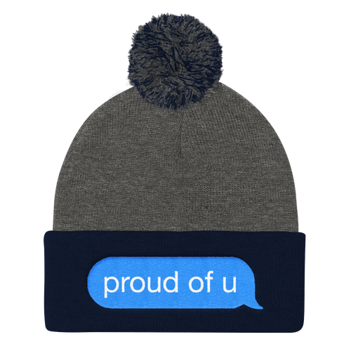 Proud of U - Pom Pom Knit Cap Beanie - Cruel World Apparel Shirts Clothing