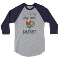 I Eat Gender Norms For Breakfast - 3/4 Sleeve Raglan Shirt