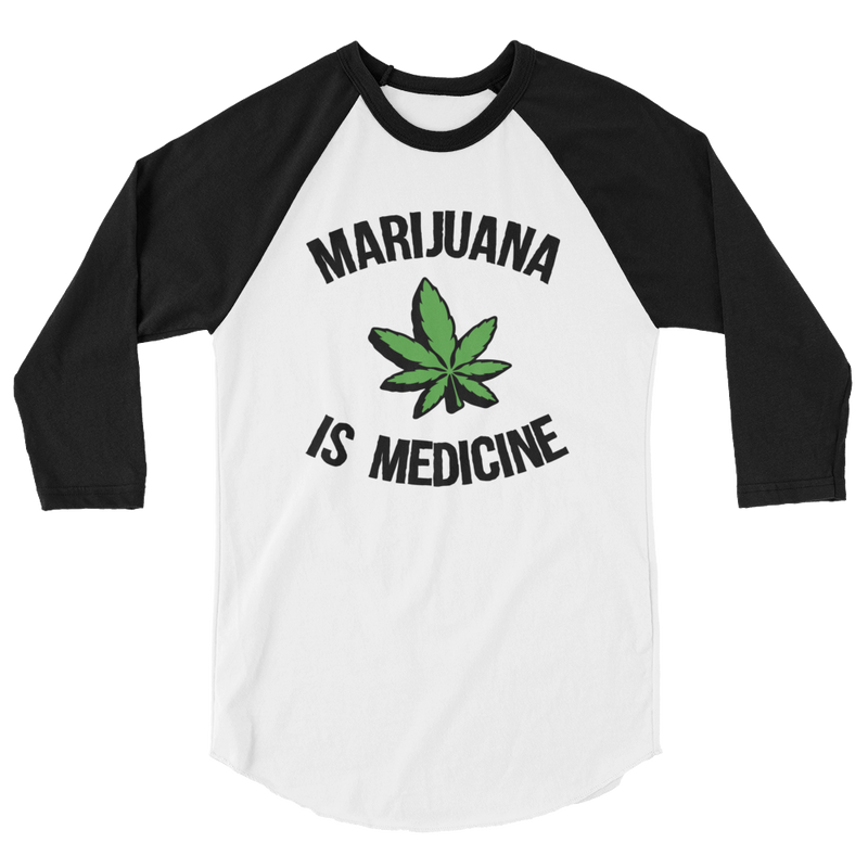 Marijuana Is Medicine - 3/4 Sleeve Raglan Shirt