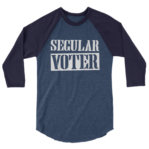 Secular Voter - 3/4 Sleeve Raglan Shirt