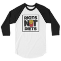 Riots Not Diets - French Fries 3/4 Sleeve Raglan Shirt