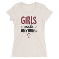 Girls Can Do Anything - Ladies' Short Sleeve T-Shirt - Cruel World Apparel Shirts Clothing