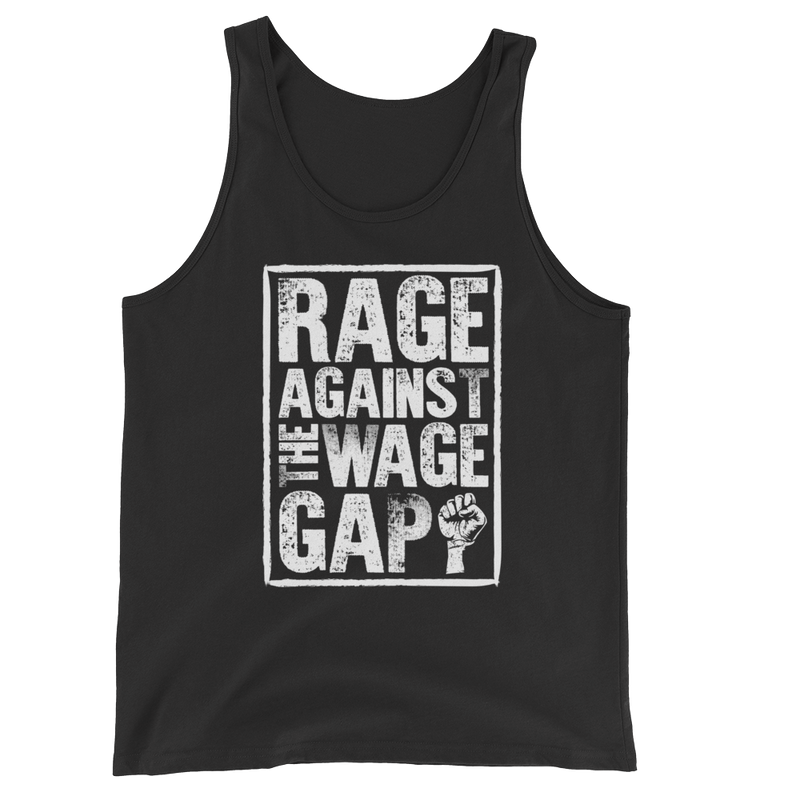 Rage Against The Wage Gap - Unisex Tank Top - Cruel World Apparel Shirts Clothing