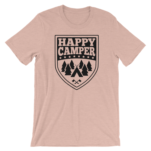 Happy Camper - Cute Camping Short-Sleeve Unisex T-Shirt