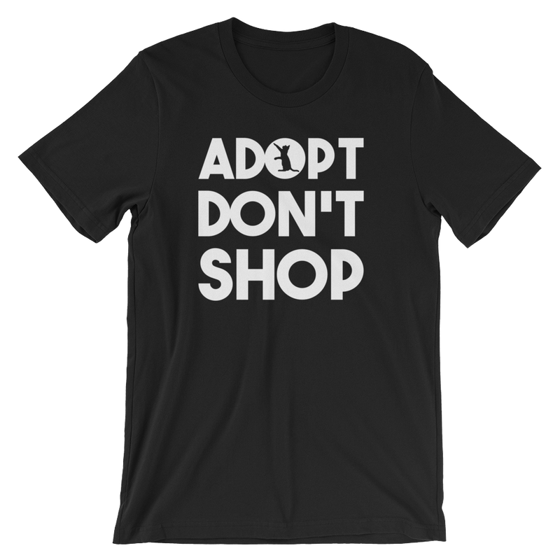 Adopt Don't Shop - Rescue Cat Unisex Short Sleeve T-Shirt - Cruel World Apparel Shirts Clothing