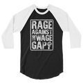 Rage Against The Wage Gap - 3/4 Sleeve Raglan Shirt - Cruel World Apparel Shirts Clothing