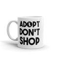 Adopt Don't Shop - Rescue Cat Coffee Mug - Cruel World Apparel Shirts Clothing