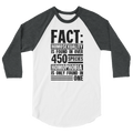 Fact: Homosexuality Is Found In Over 450 Species Homophobia Is Only Found In One - 3/4 Sleeve Raglan Shirt