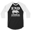 End Animal Exploitation - 3/4 Sleeve Raglan Shirt